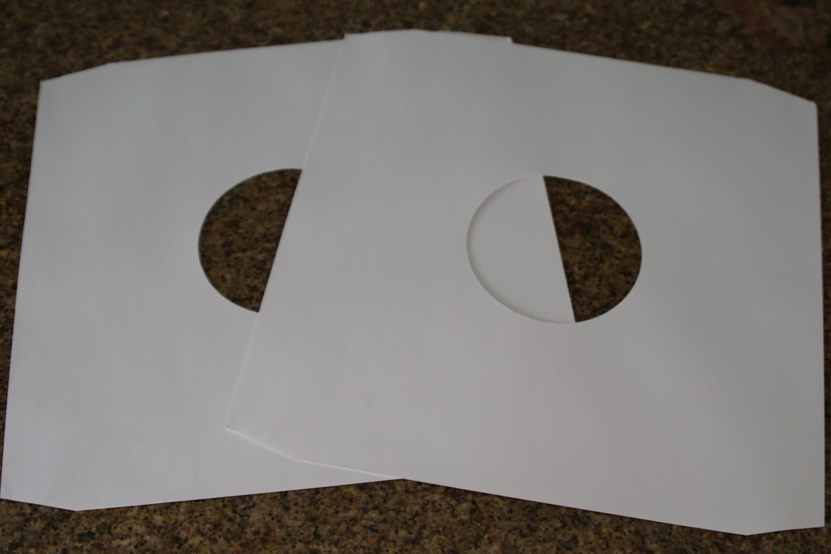 12 Quot White Paper Inner Record Sleeves Mr Vinyl