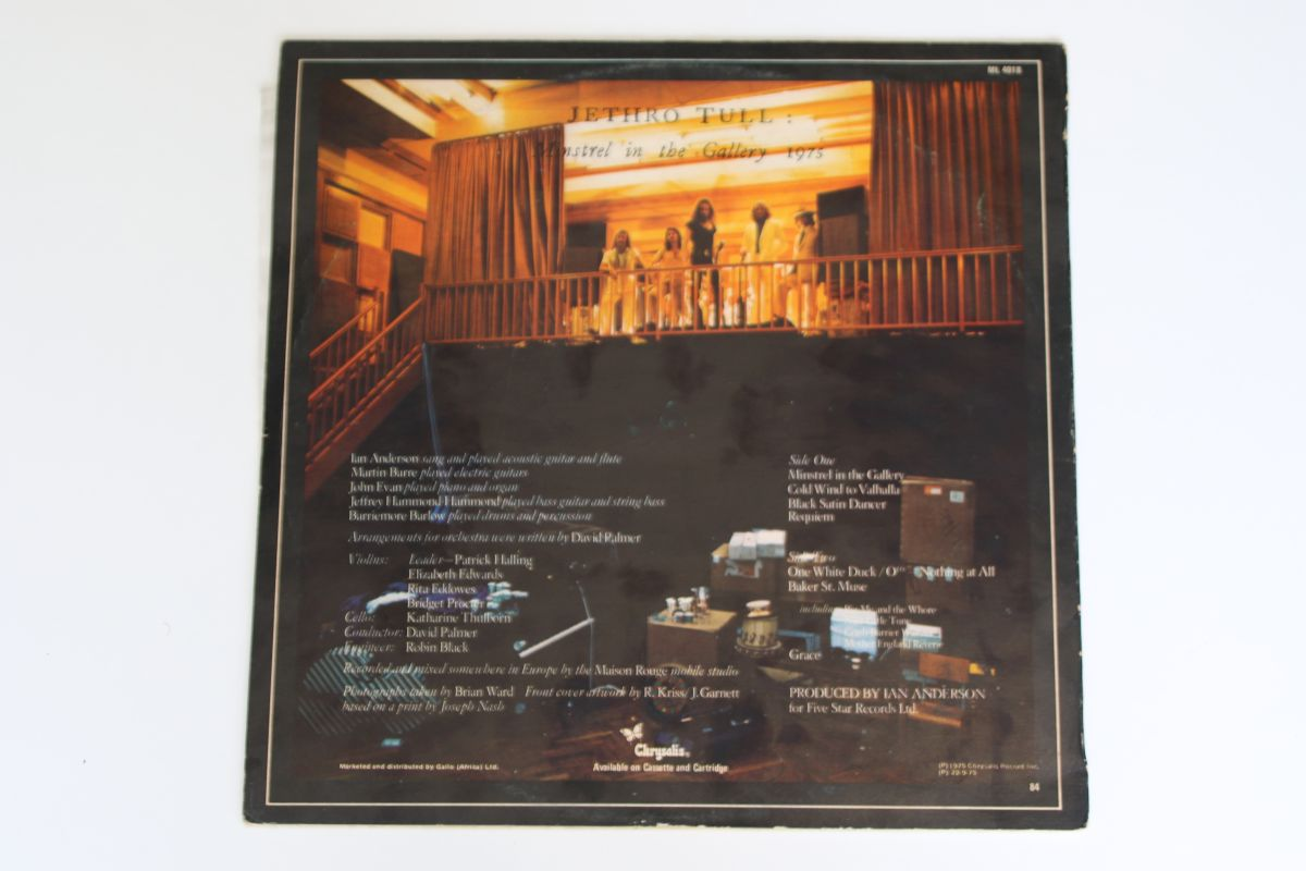 Jethro Tull Minstrel In The Gallery Vg Vg Mr Vinyl