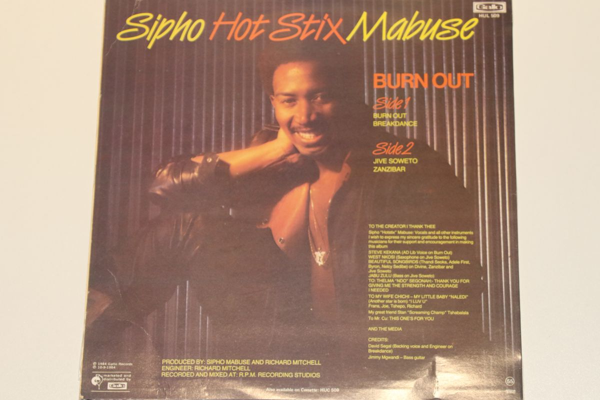 Sipho Mabuse - Burn Out (VG+) - Mr Vinyl
